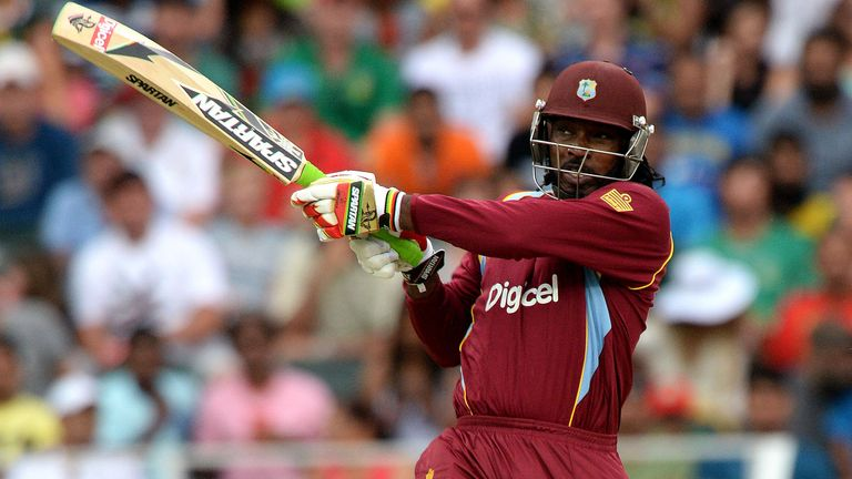 Gayle has hit 98 sixes in 50 T20 internationals for the Windies