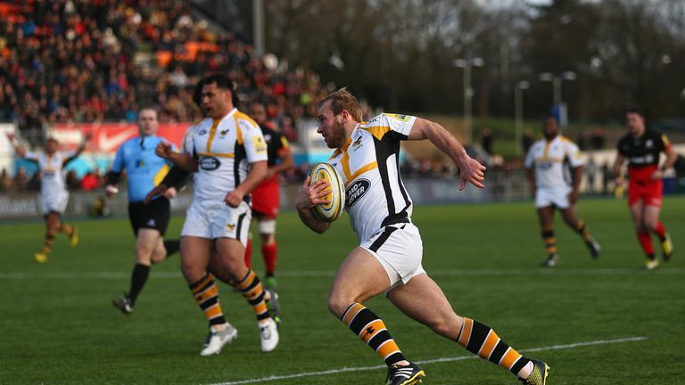 Dan Robson was one of three players to dot down twice for Wasps