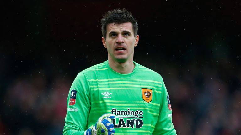 Eldin Jakupovic made 11 saves in total, the most against Arsenal this season