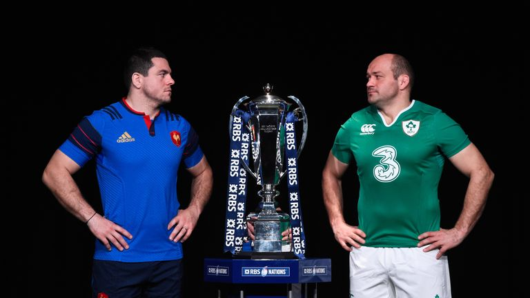 Hookers Guilhem Guirado and Rory Best captain their respective sides
