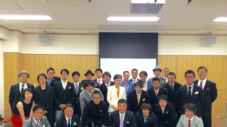 Gary White and the rest of the candidates, instructors and staff in Japan