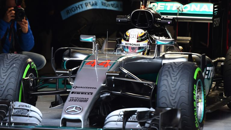 Hamilton was a centurion for laps completed in Barcelona