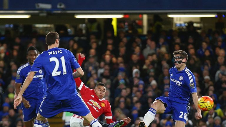 Jesse Lingard found the net in United's 1-1 draw with Chelsea