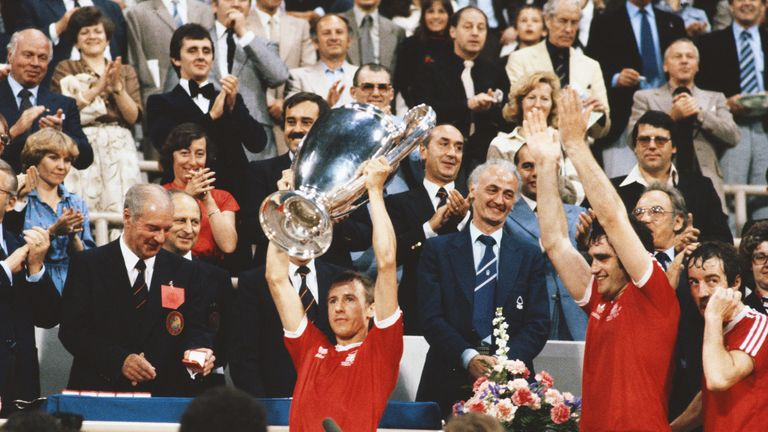 Nottingham Forest lifting the European Cup