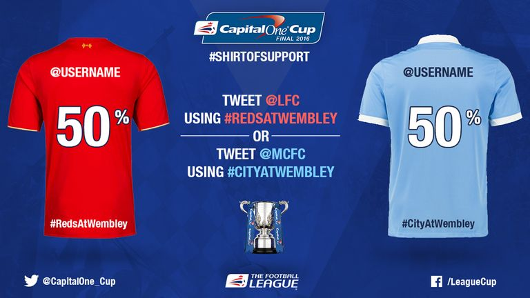 Liverpool and Man City fans can take part in Capital One Cup final Twitter campaign