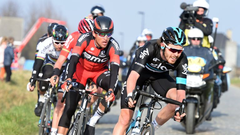 Team Sky's Luke Rowe played a key role in creating the lead group