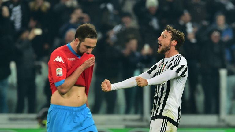 Victory over Napoli in February helped Juventus towards a fifth-straight Serie A title