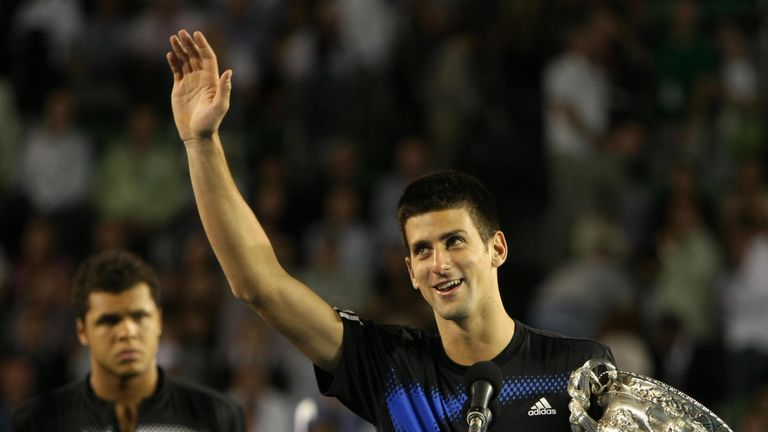 Djokovic beat Tsonga to secure his first major title in 2008
