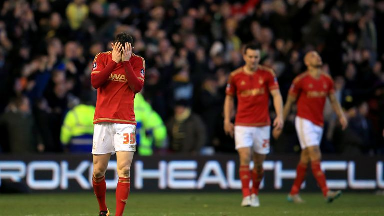 Nottingham Forest's wage/revenue ratio was 173 per cent in 2015/16
