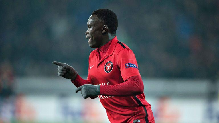 Pione Sisto scored Midtjylland's equaliser