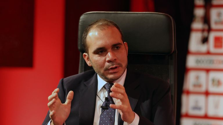 Prince Ali Bin Al-Hussein was one of five FIFA presidential candidates
