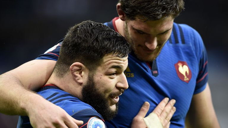 France prop Rabah Slimani (left) impressed as a replacement