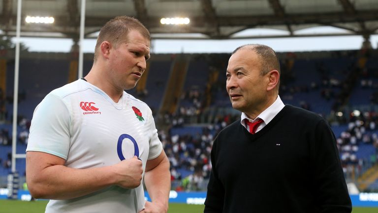 Dylan Hartley (L) is excited about England's future