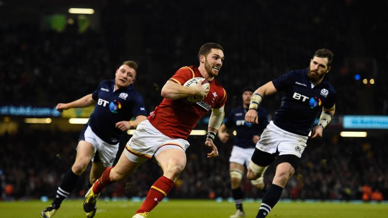 George North scored the try that sealed victory for Wales