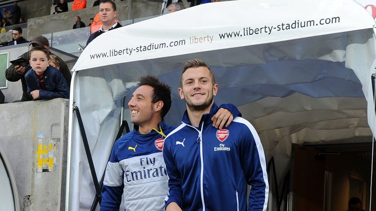 Arsenal have been without both Santi Cazorla and Jack Wilshere