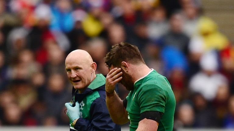 O'Brien was injured during last week's loss to France