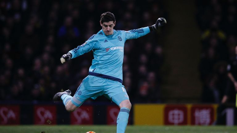 Thibaut Courtois Rues Chelseas Dropped Points At Watford Football