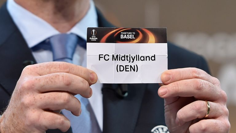 FC Midtjylland are Manchester United's Europa League opponents