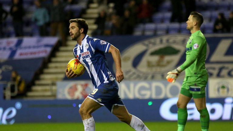 Wigan Athletic's Will Grigg is up for the Player of the Month prize