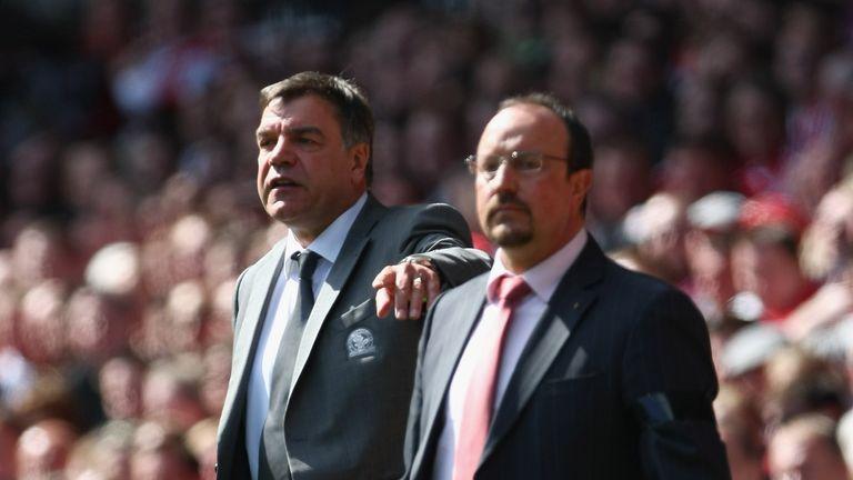 Rafael Benitez (right) has sympathy for old adversary Sam Allardyce