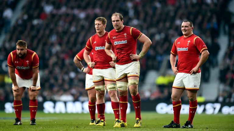Wales look on dejected after 25-21 Six Nations defeat to England at Twickenham