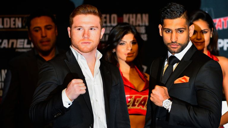 Saul Alvarez and Amir Khan are meeting at catchweight on May 7