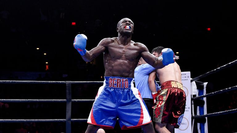 Andre Berto has only been stopped once in his professional career