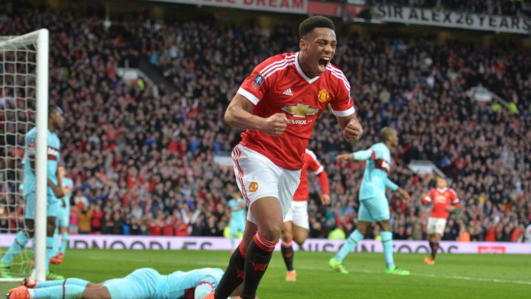 Martial has six goals in the Premier League for United