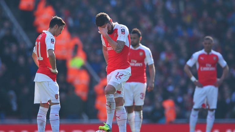 Arsenal were dumped out of the FA Cup by Watford