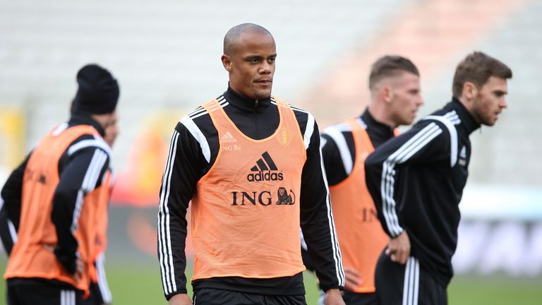 Vincent Kompany and his Belgium team-mates are yet to train