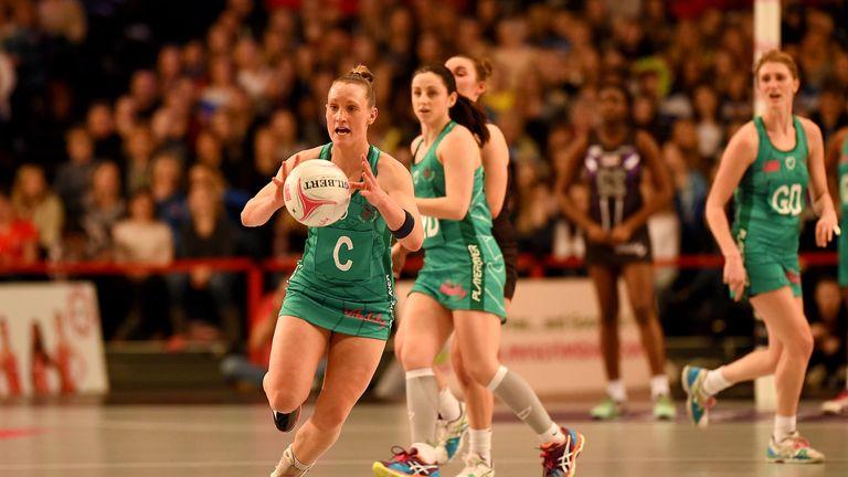 Celtic Dragons' Kyra Jones in action