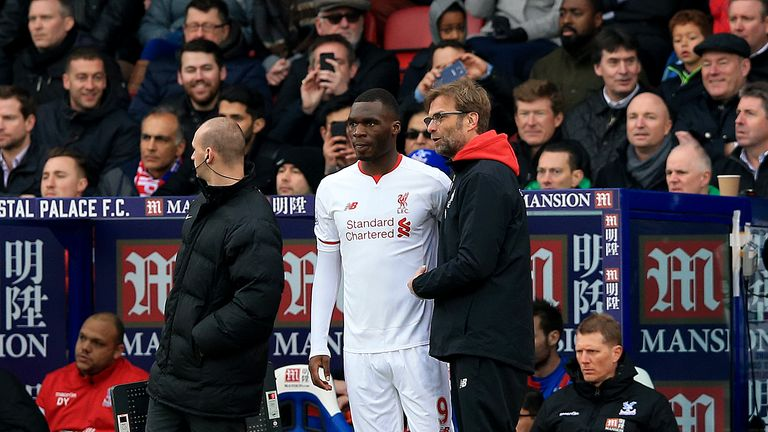 Benteke has struggled to establish himself under Jurgen Klopp (R)
