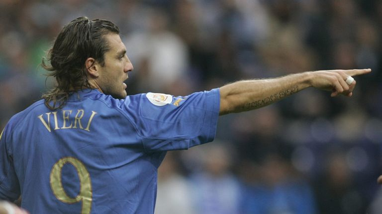 Christian Vieri is the joint highest scorer for Italy at the World Cup, but brother Max was less successful for Australia