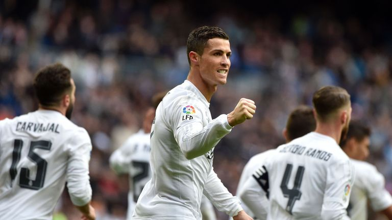 Ronaldo needed half as many games to break the Real Madrid record as Raul