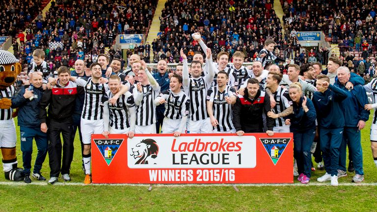 Dunfermline are British football's first title winners of 2015/16 in Scottish League One