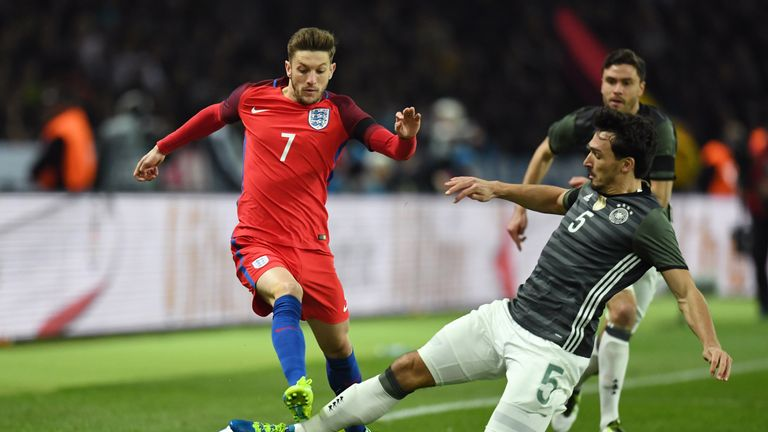 England's Adam Lallana recorded six assists and four goals for Liverpool in 2015/16