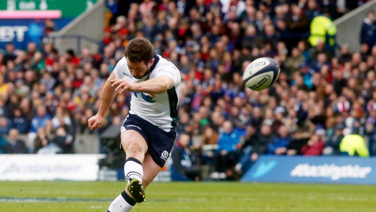 Scotland's Greig Laidlaw scores his side's first penalty