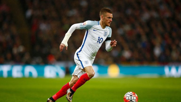 Jamie Vardy scored his first England goal against Germany in March