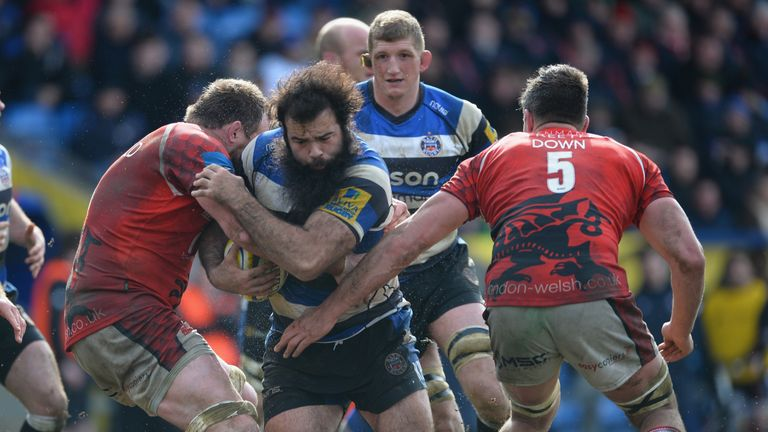 Kane Palma-Newport charges forward against London Welsh