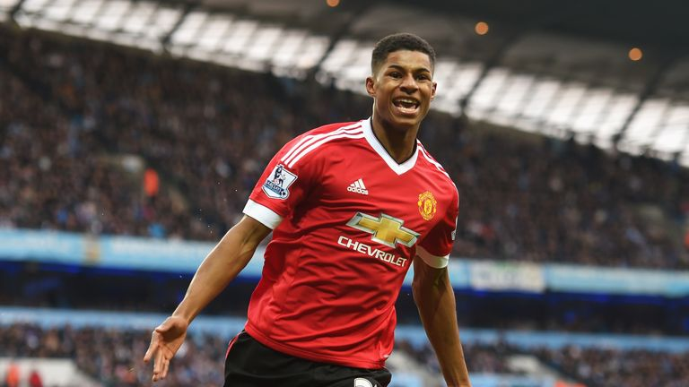 Marcus Rashford was the derby winner for Manchester United