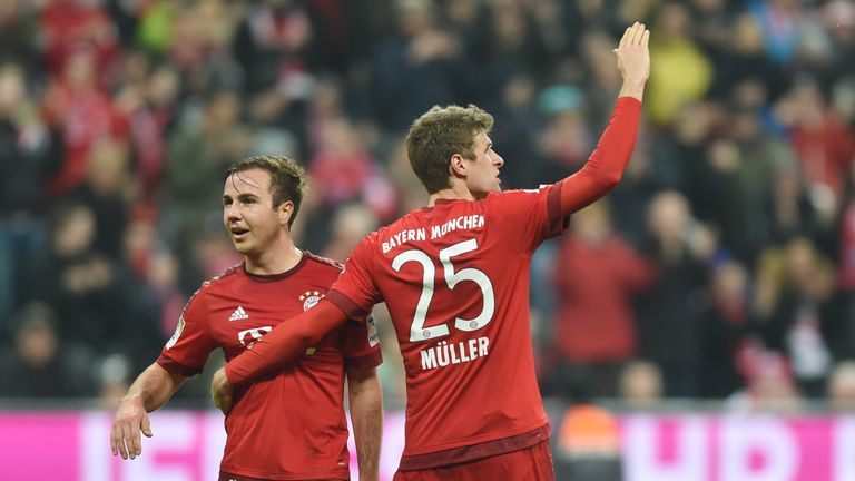 Mario Gotze (left) scored 27 goals during his first two seasons at Bayern