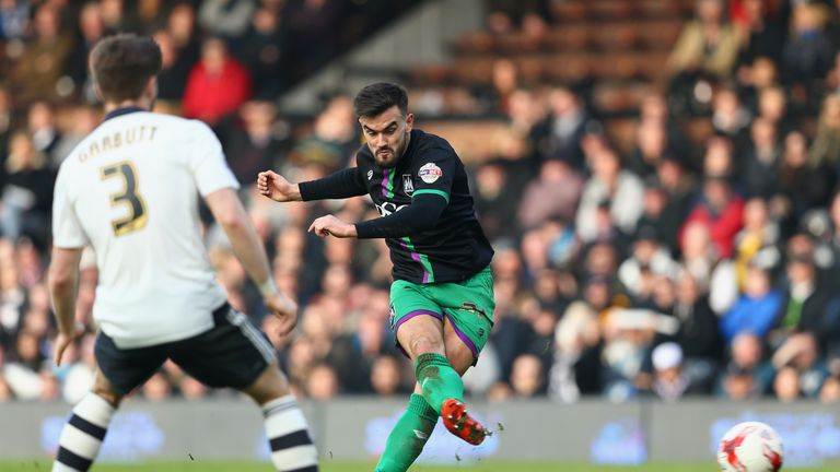 Marlon Pack scores the equalising goal at Craven Cottage.