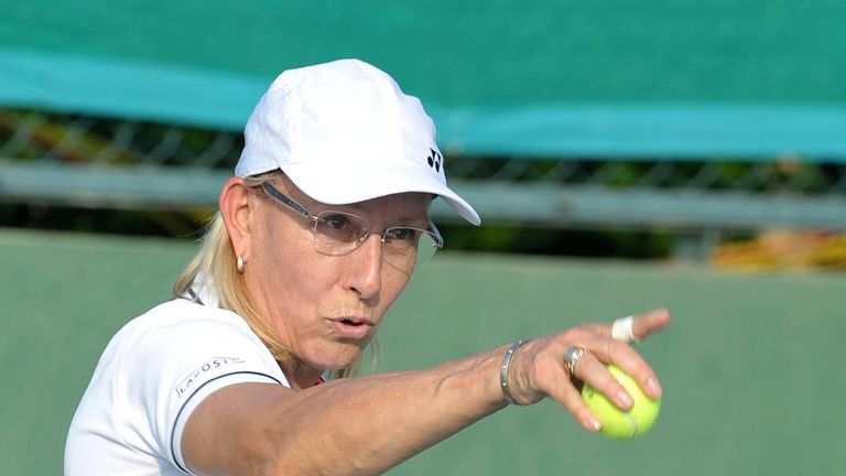 Navratilova has been invited by Athlete Ally 'to study the data on trans athletes in sport'