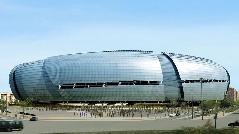 A computer-generated image of the Nou Mestalla