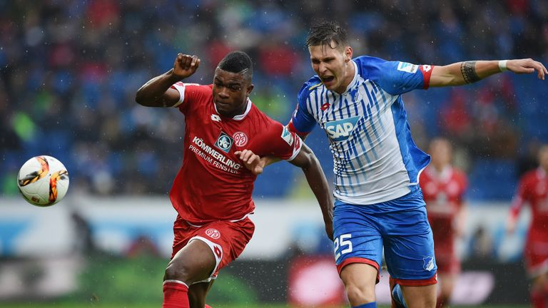 Uncapped Hoffenheim defender Niklas Sule (R) has been called up by Germany