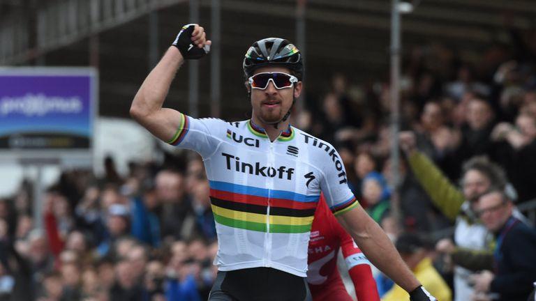Peter Sagan won Gent-Wevelgem for the second time