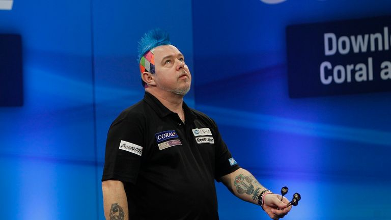 Peter Wright narrowly failed to complete a nine-darter