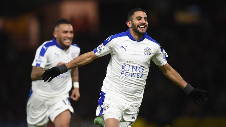 Leicester's Riyad Mahrez has scored 17 times this season