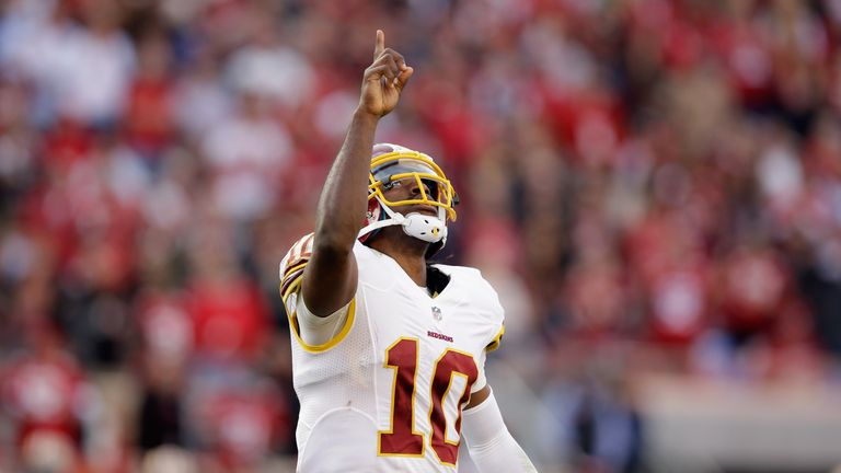 Robert Griffin III had mixed fortunes at the Washington Redskins