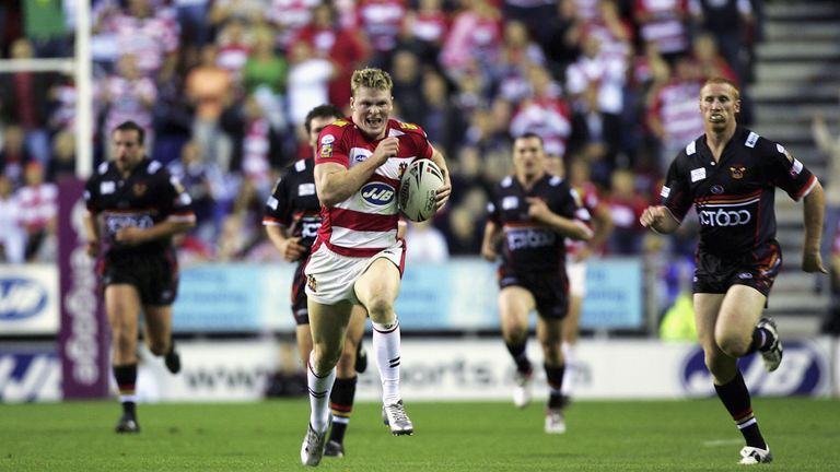 Chris Ashton scored 28 tries in 51 appearances for Wigan Warriors